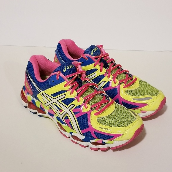 Asics Shoes - Asics Size 7 Gel Kayano 21 Bright Rainbow Sneakers